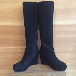 6cf22a8e9801 KMB Shoes - Black Wedge KMB boots